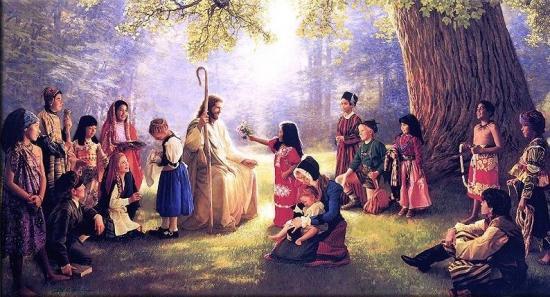 Fond d'écran Jésus prêchant toutes les nations
