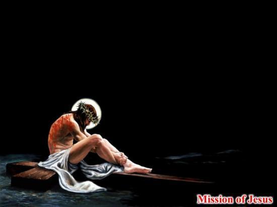Fond d'écran Jésus assis sur la Croix