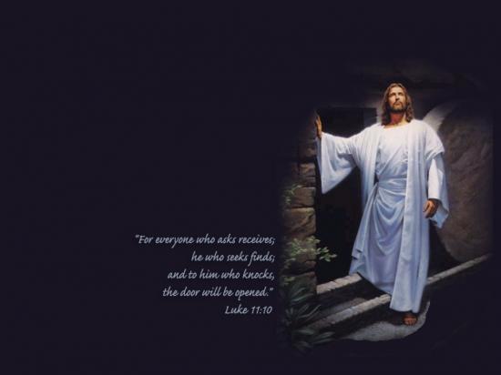 Fond d'écran Jésus Ressuscité et Evangile de Luc