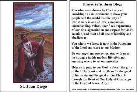 Prayer to Saint Juan Diego