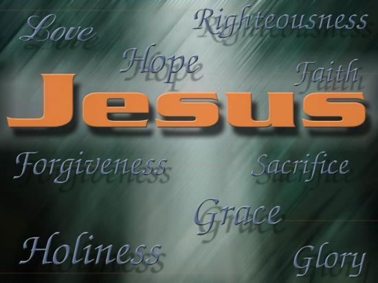 Fond d'écran Vertus de Jésus