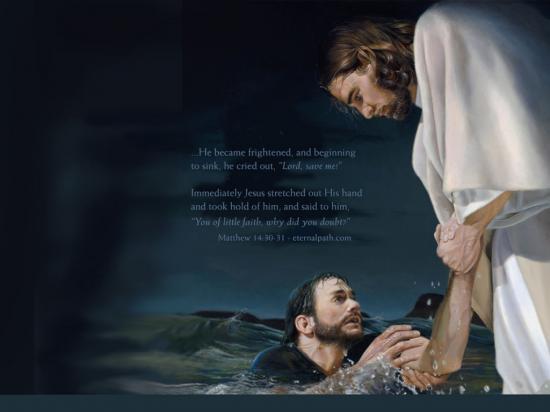 Fond d'écran Jésus Sauveur et Evangile de Matthieu