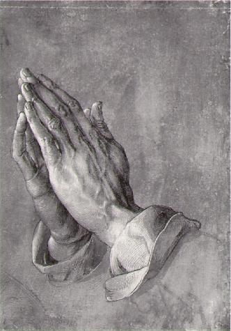 Albrecht Dürer, mains priant