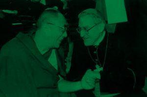 Mgr Lustiger et le Dalaï Lama