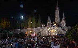 Lourdes, visite de Benoît XVI