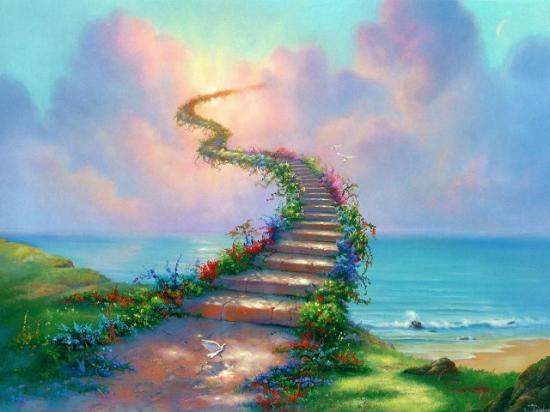 Fond d'écran escalier céleste