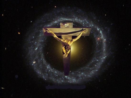 Fond d'écran Jésus et l'univers