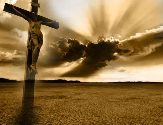 Sainte Croix de Jésus et nuages