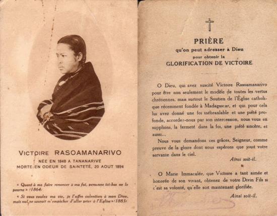 Prière à Victoire Rasoamanarivo