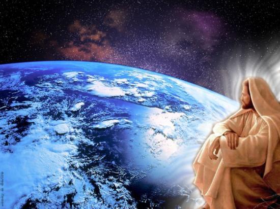 Fond d'écran Jésus regardant la terre