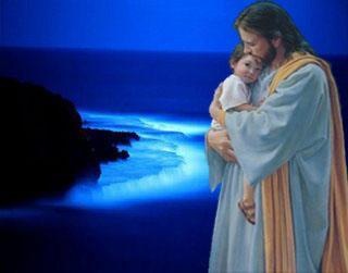 Image de Jésus avec bébé