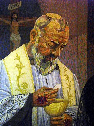 Mosaïque du Padre Pio
