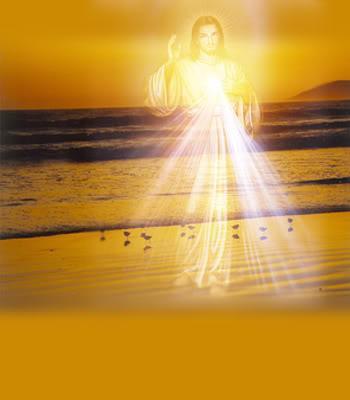 Jésus transparent sur l'océan