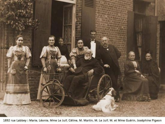 Louis Martin âgé, ses filles et la famille Guérin