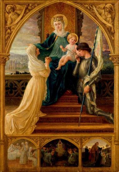 Marie, l'Enfant-Jésus, Sainte Jeanne d'Arc et Sainte Geneviève