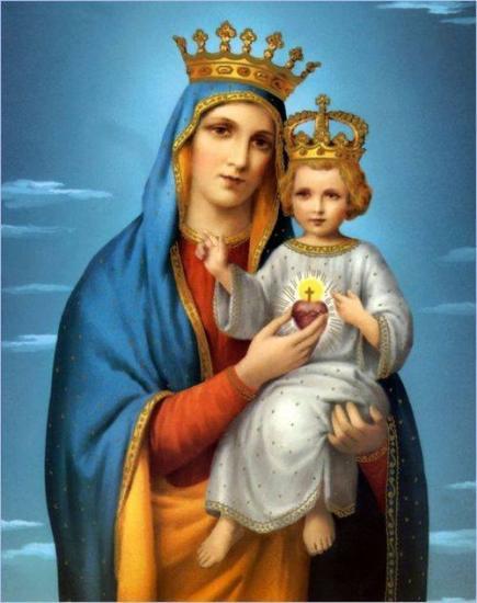Marie Reine et l'Enfant Jésus Roi