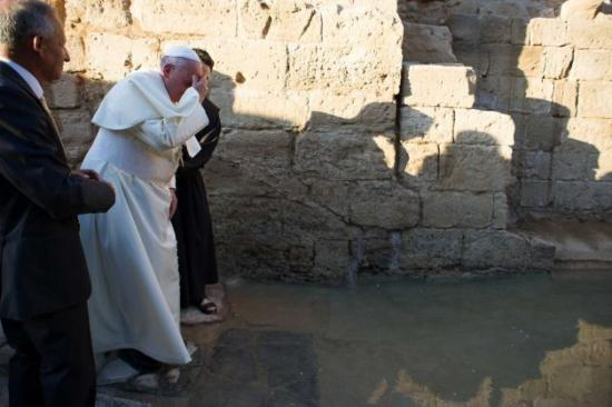 Le Pape Fançois à Béthanie, 24 mai 2014