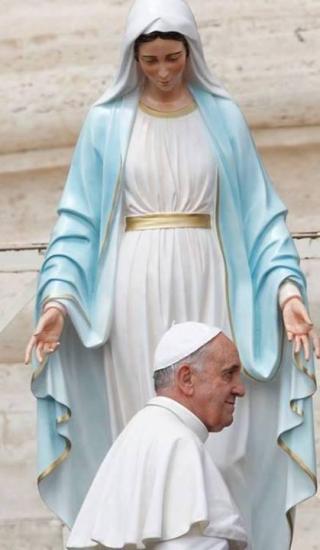 Le Pape François et la Vierge Marie