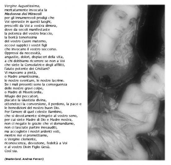 Prière à la Vierge des Miracles de Saronno