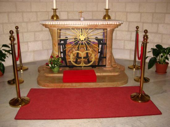 Reliques de Marie-Alphonsine, palestinienne canonisée