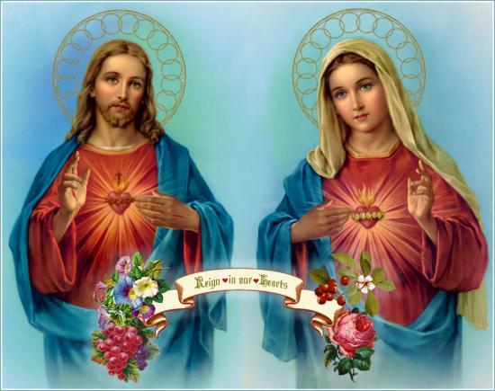 Saints Coeurs Unis de Jéus et Marie, régnez dans nos coeurs