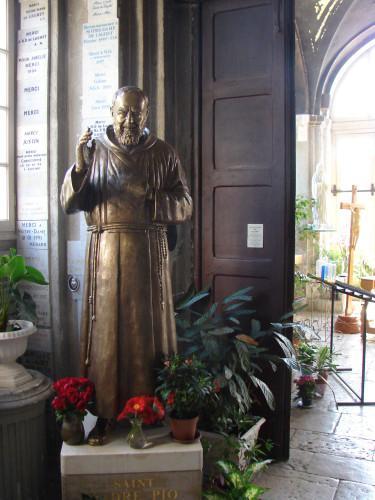 Statue du Saint Padre Pio, Sanctuaire de Laghet (06)