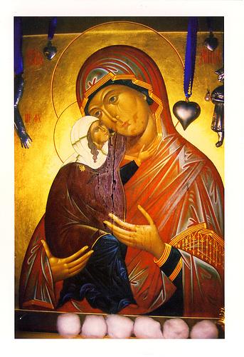 Miraculeuse icône de Sainte-Anne