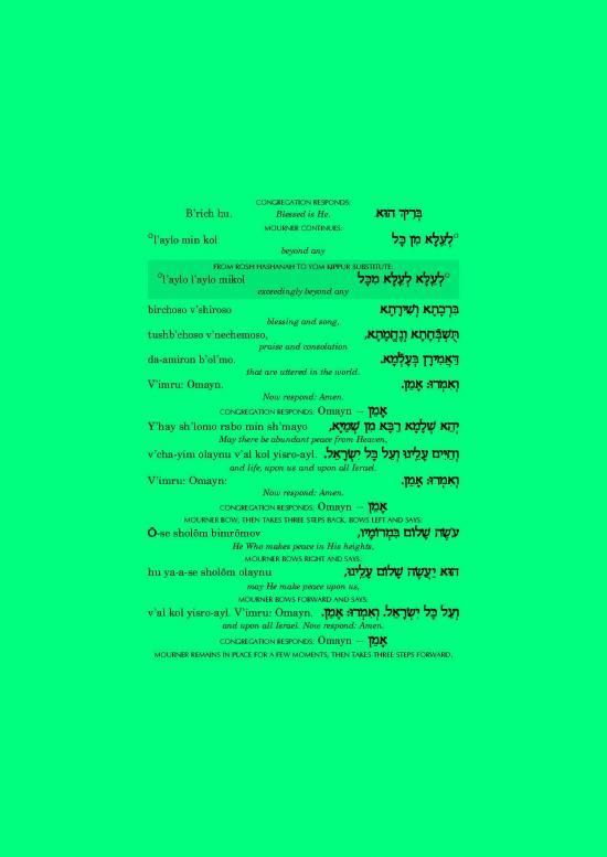 Mourner's Kaddish 2/Kaddish pour les morts 2