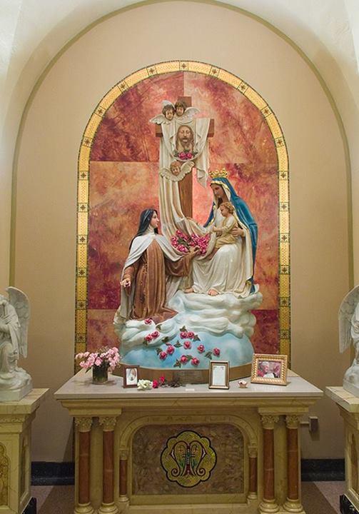 Autel Thérèse de Lisieux, Marie, Enfant-Jésus et Sainte-Face