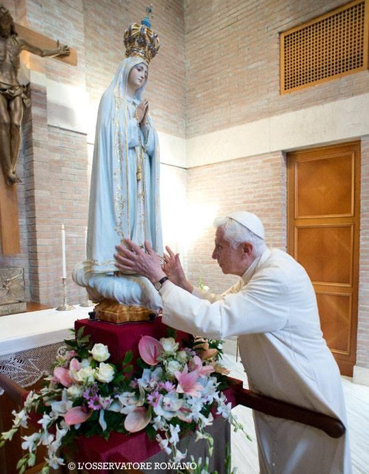 Benoît XVI et Notre-Dame de Fatima, Rome, octobre 2013