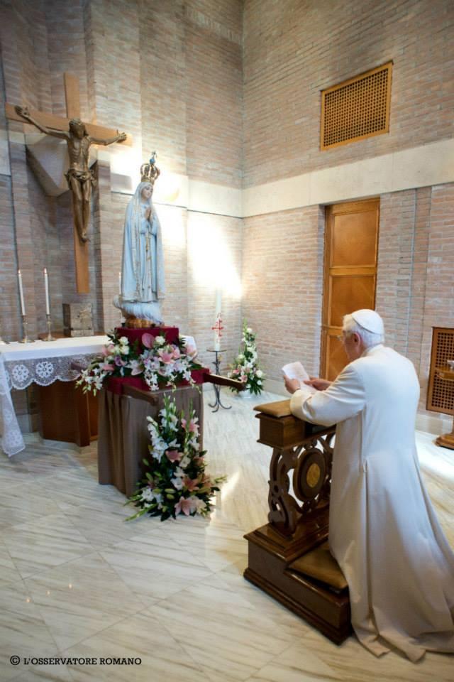 Benoît XVI et Notre-Dame de Fatima, Vatican, octobre 2013
