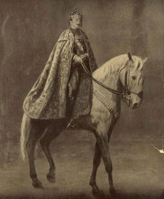 Empereur Charles Ier d'Autriche à cheval