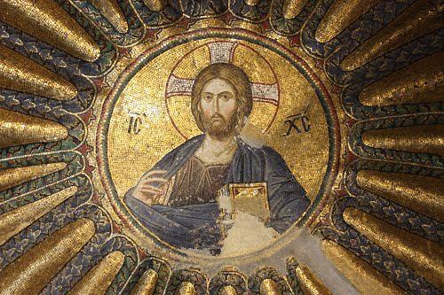 Fresque, icône de Jésus Christ