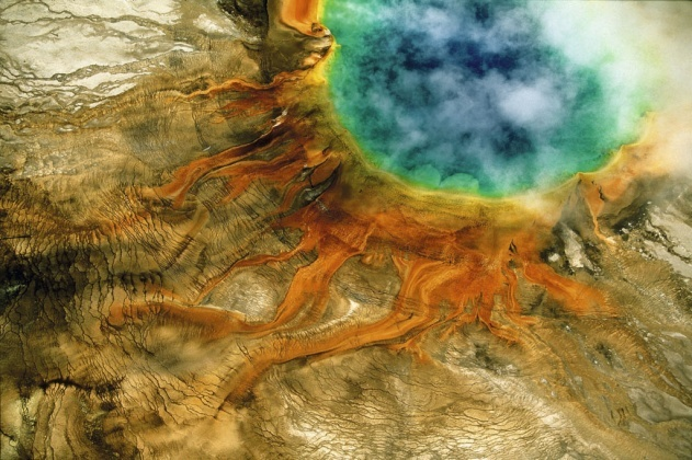Grand Prismatic Spring (USA), par Yann Arthus Bertrand