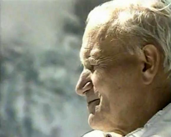 Jean-Paul II de profil
