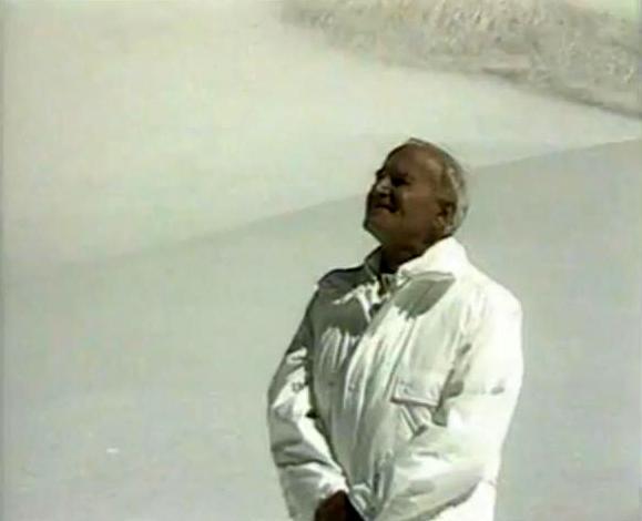 Jean-Paul II dans la neige