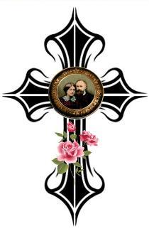 Bienheureux Louis et Zélie Martin, croix et roses