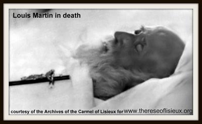 Bienheureux Louis Martin sur son lit de mort