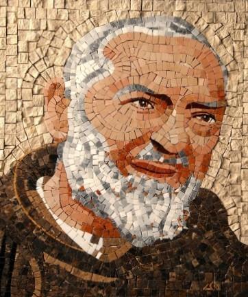 Mosaïque du Saint Padre Pio