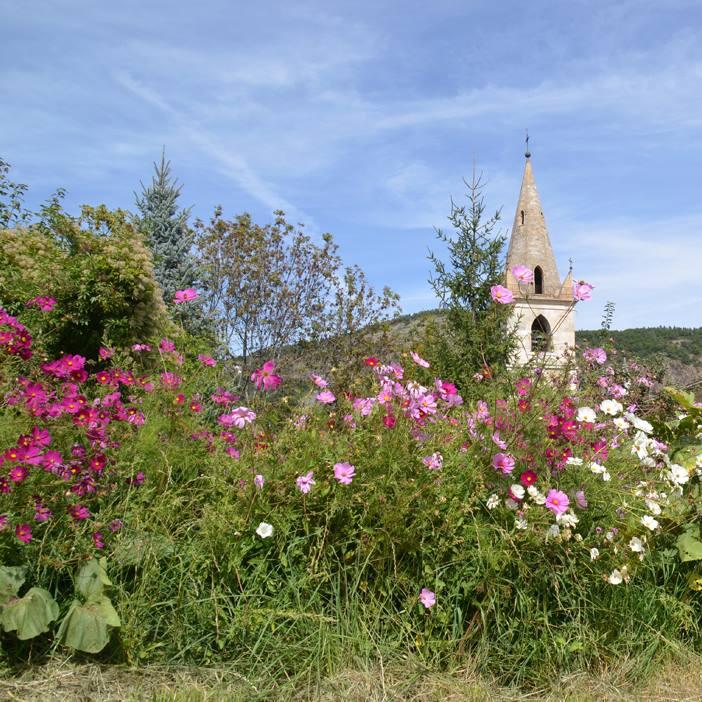 Notre-Dame du Laus en fleurs (Alpes-de-Haute-Provence)