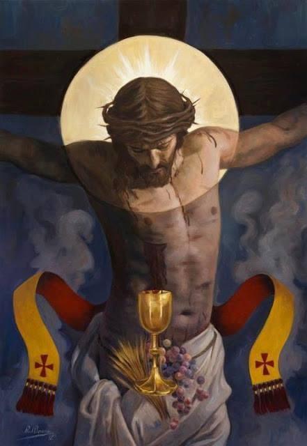 Peinture du Christ Crucifié
