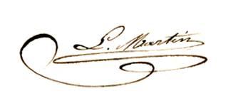 Signature du Bienheureux Louis Martin, père de Thérèse
