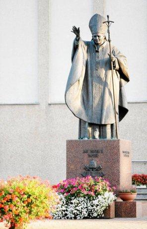 Statue de Jean-Paul II à Czestochowa (Pologne)