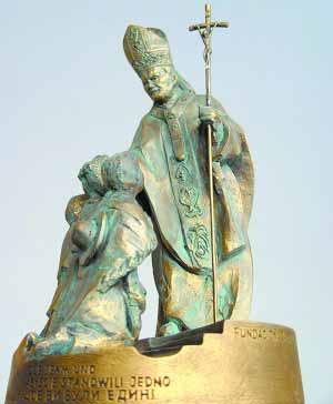 Statue du Bienheureux Pape Jean-Paul II