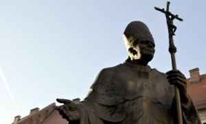 Statue du Pape Jean-Paul II à Czestochowa (Pologne)