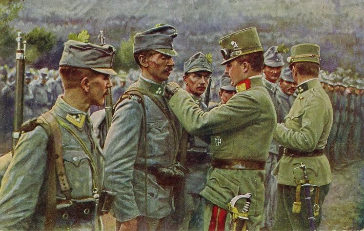 Empereur charles decorant soldats 1916 parousie over blog fr