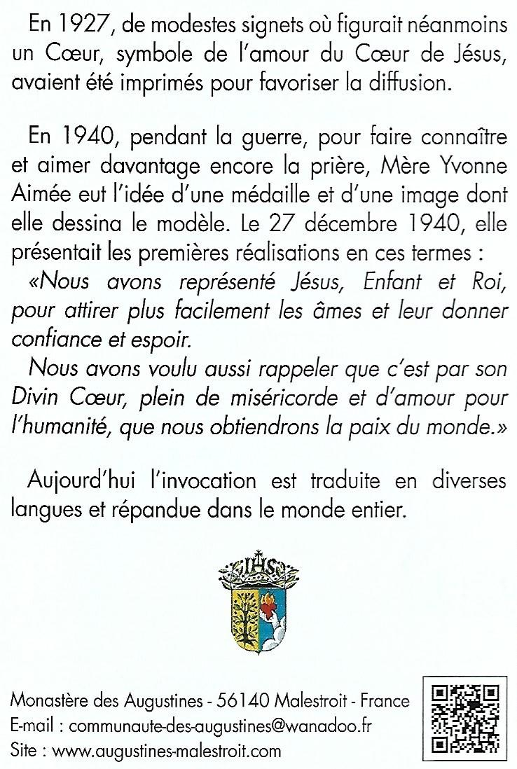 Historique priere jesus roi d amour parousie overblog fr