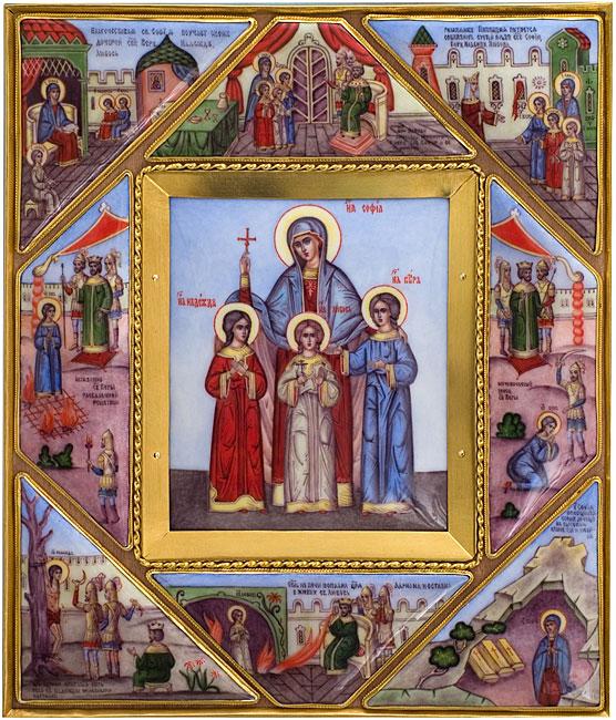 Icone sainte sophie et ses 3 filles parousie over blog fr