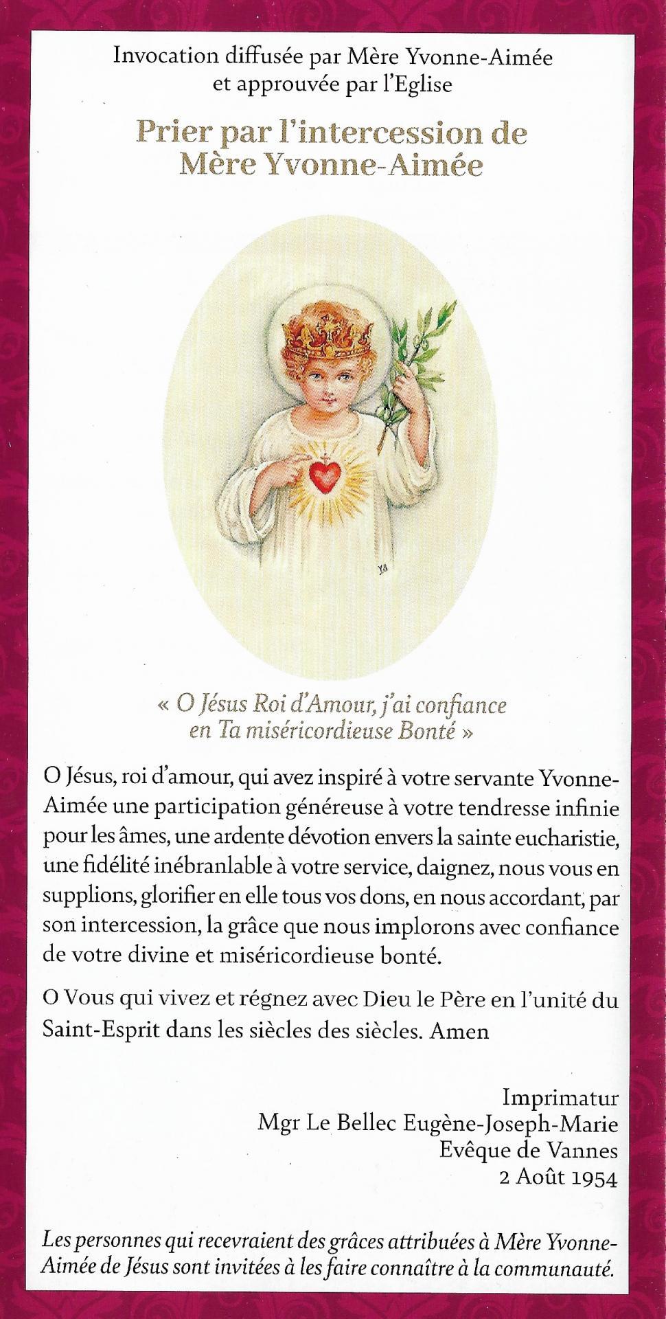 Priere a mere yvonne aimee de jesus parousie overblog fr